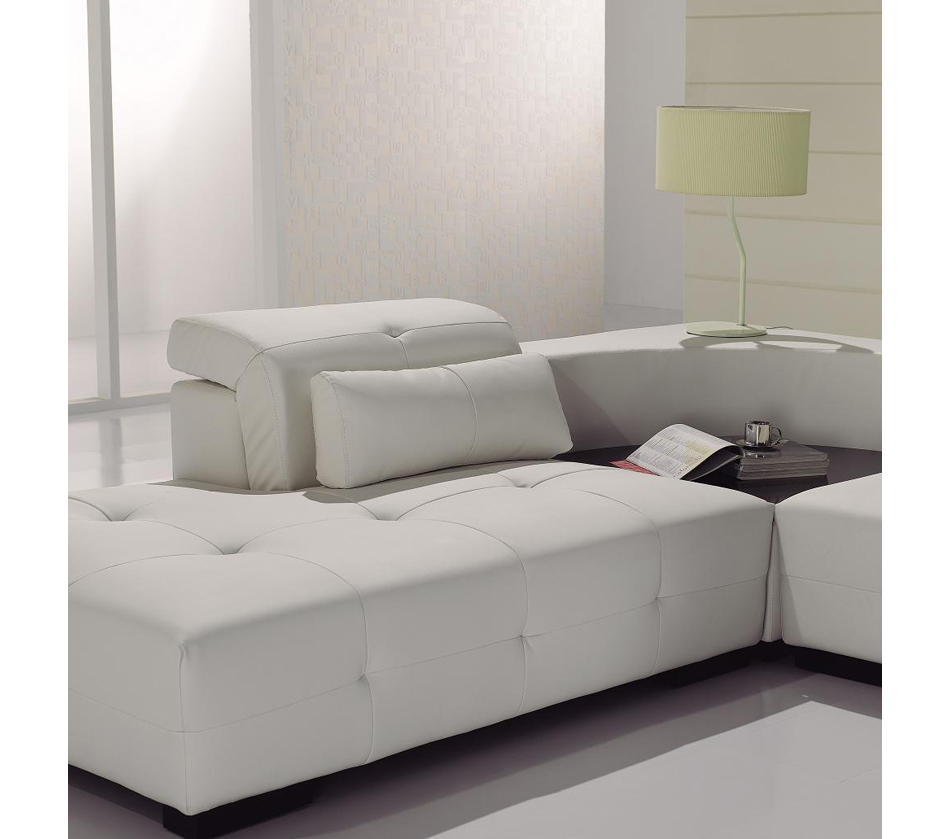 T90 modern white leather sectional sofa for Divan furniture