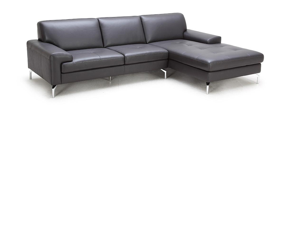 Tansy modern brown sectional sofa for Brown sectional with chaise