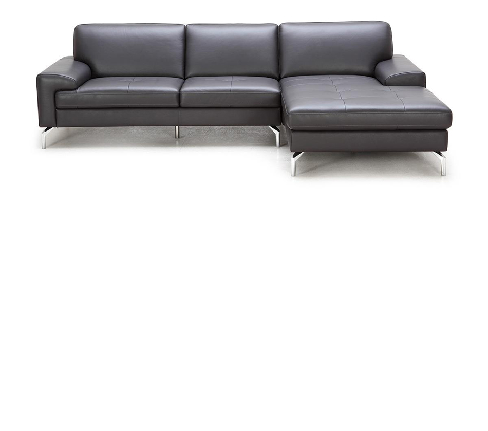 Tansy modern brown sectional sofa for Brown sectionals with chaise