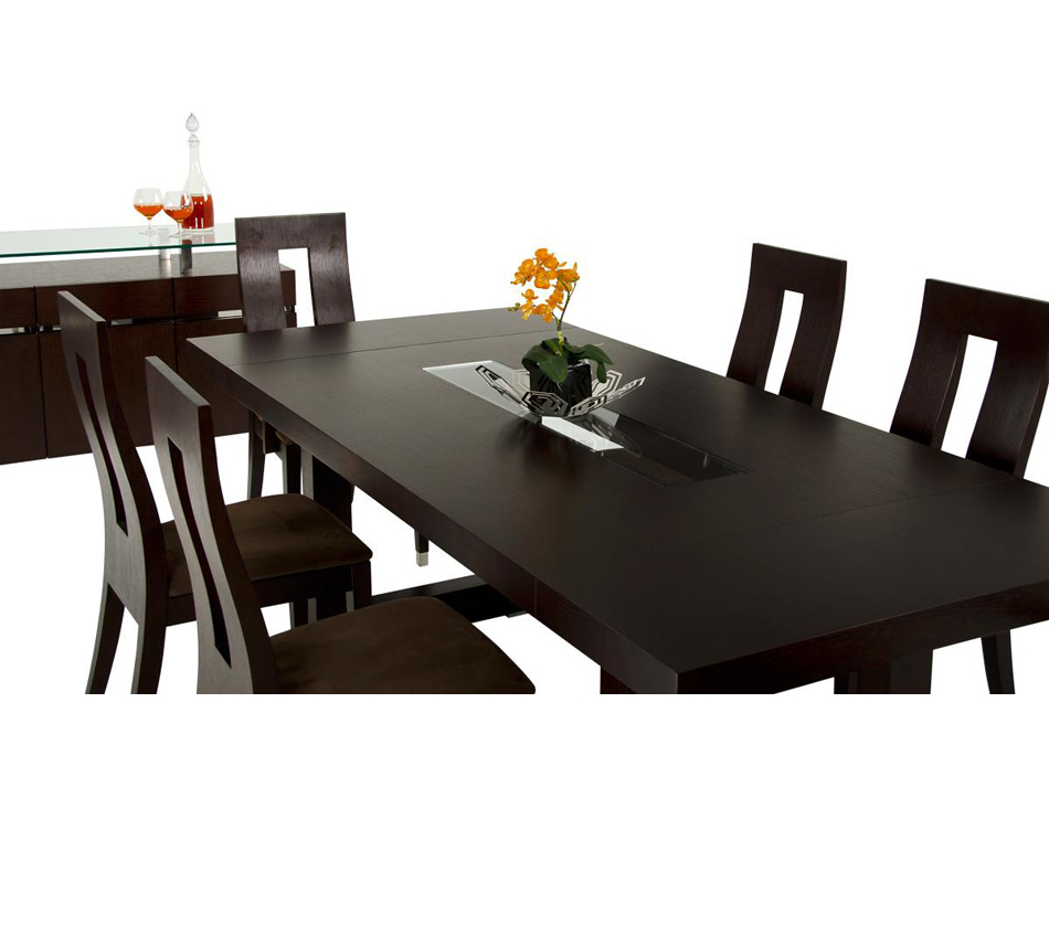 dining table modern wenge dining table. Black Bedroom Furniture Sets. Home Design Ideas