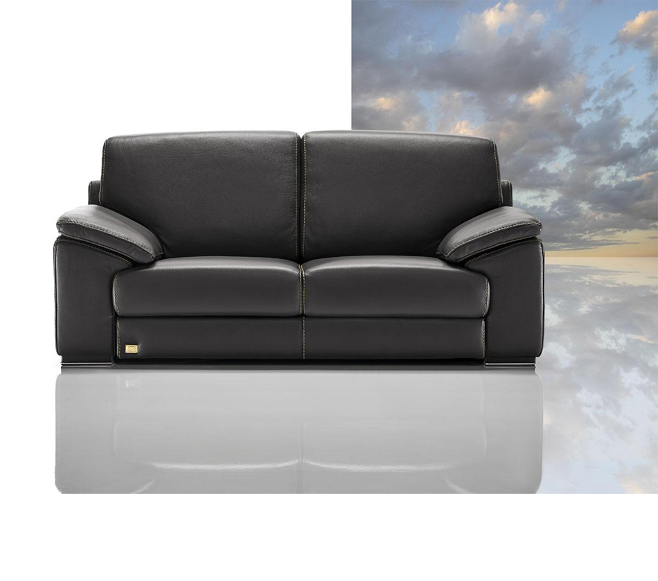 Ital Leather Sofa: Tonga Modern Italian Full Leather