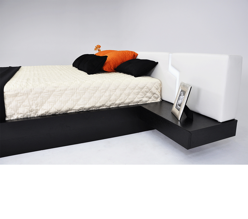 Torino modern platform bed with storage Modern platform beds