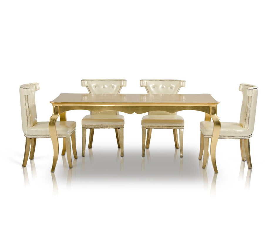 DreamFurniture Transitional Golden Table AC841 180