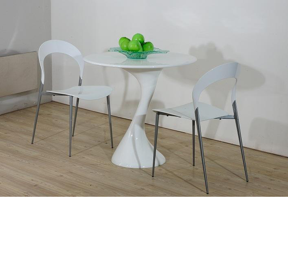 dreamfurniture com twist white lacquer round dining table
