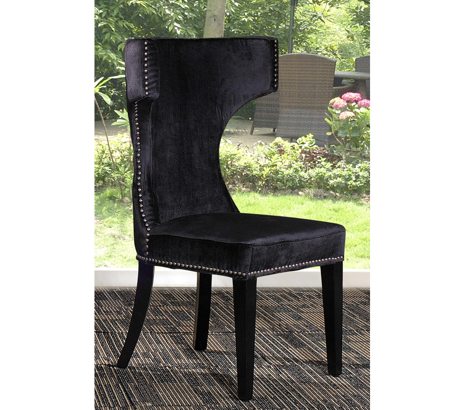 Alto modern black fabric dining chair for Modern black dining chairs