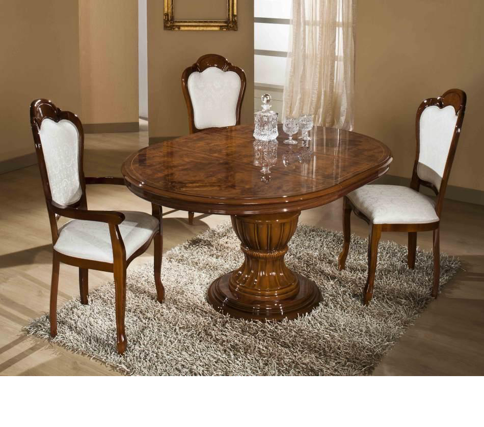 Dreamfurniture Com Elizabeth Round Extend Able Dining