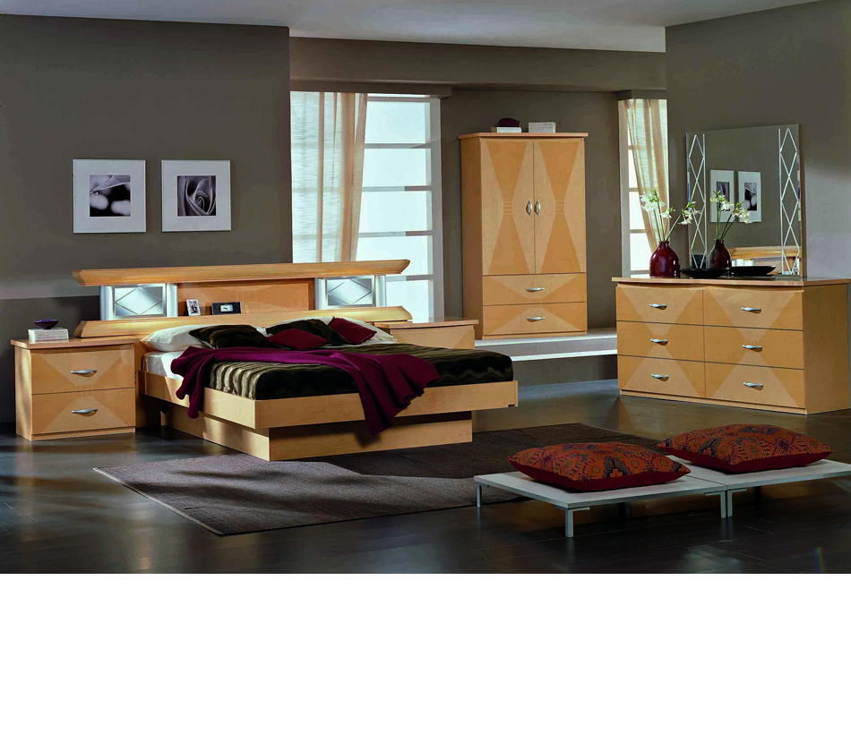 Vera Glass King Bedroom Set