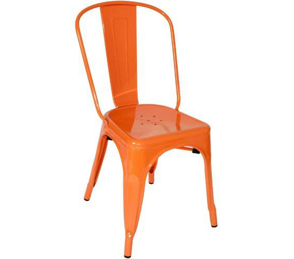 T 5816 Modern Orange Metal Side Chair