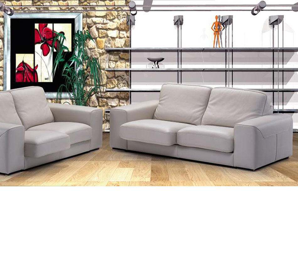 dreamfurniture luxor italian leather sofa set