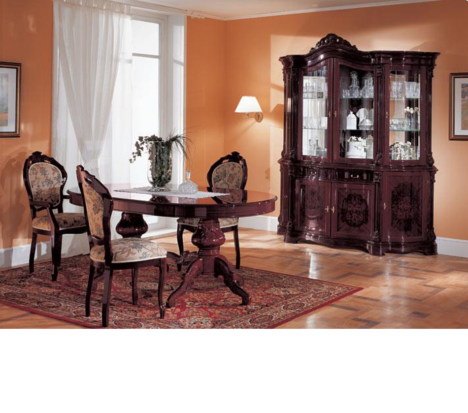 Dreamfurniture Com Regina Mahogany Traditional Dining Set