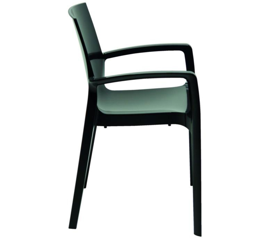 cream modern glossy anthracite italian dining chair. Black Bedroom Furniture Sets. Home Design Ideas