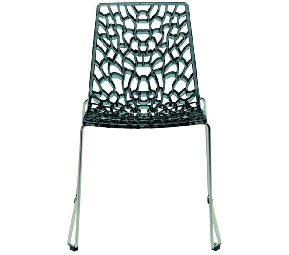 Groove modern grey italian dining chair for Italian dining chairs modern