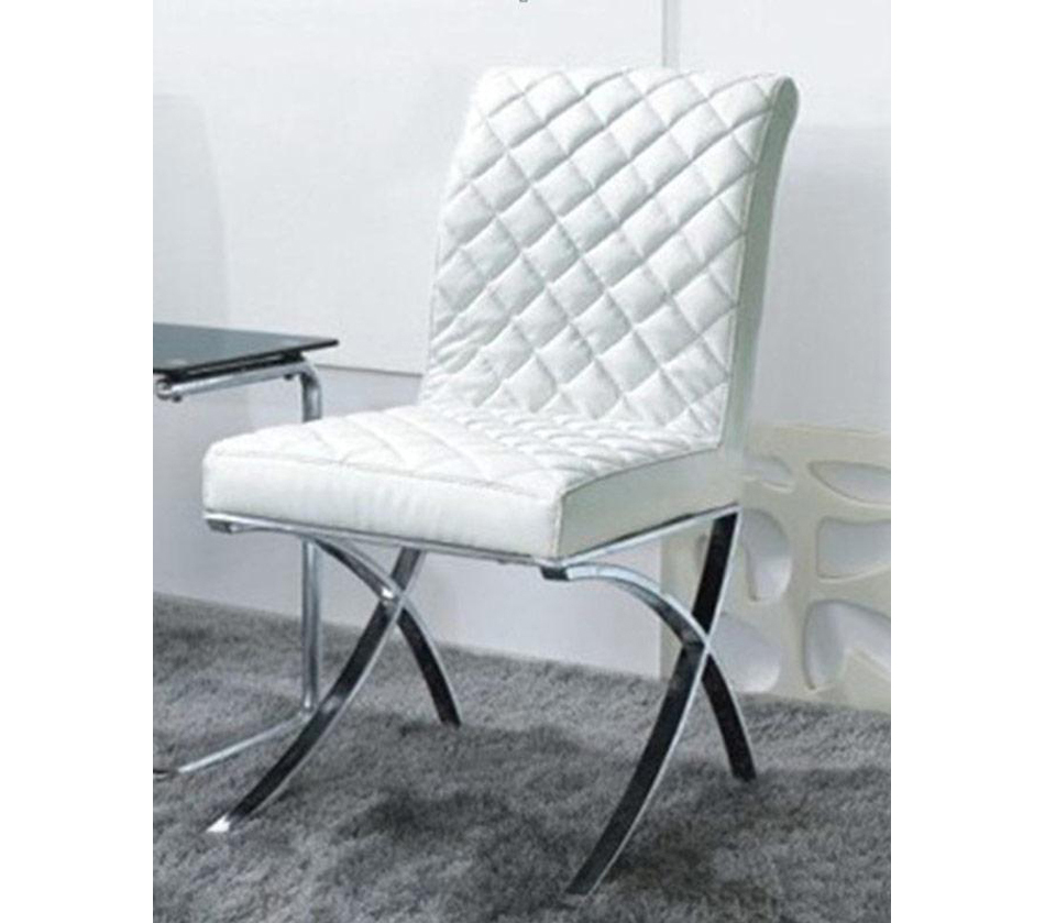 C1012 modern white eco leather for Contemporary white dining chairs