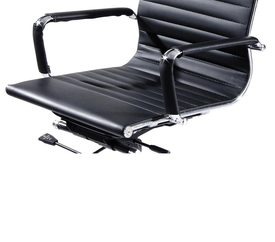 Xy100 modern black eco leather for Modern leather office chairs