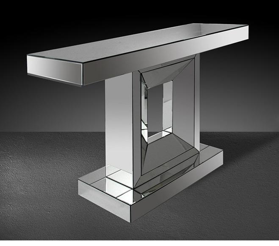 Dreamfurniture Com Windsor Modern Mirrored Console Table