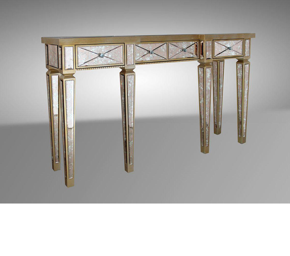 Harmon transitional mirror console - Table console miroir ...