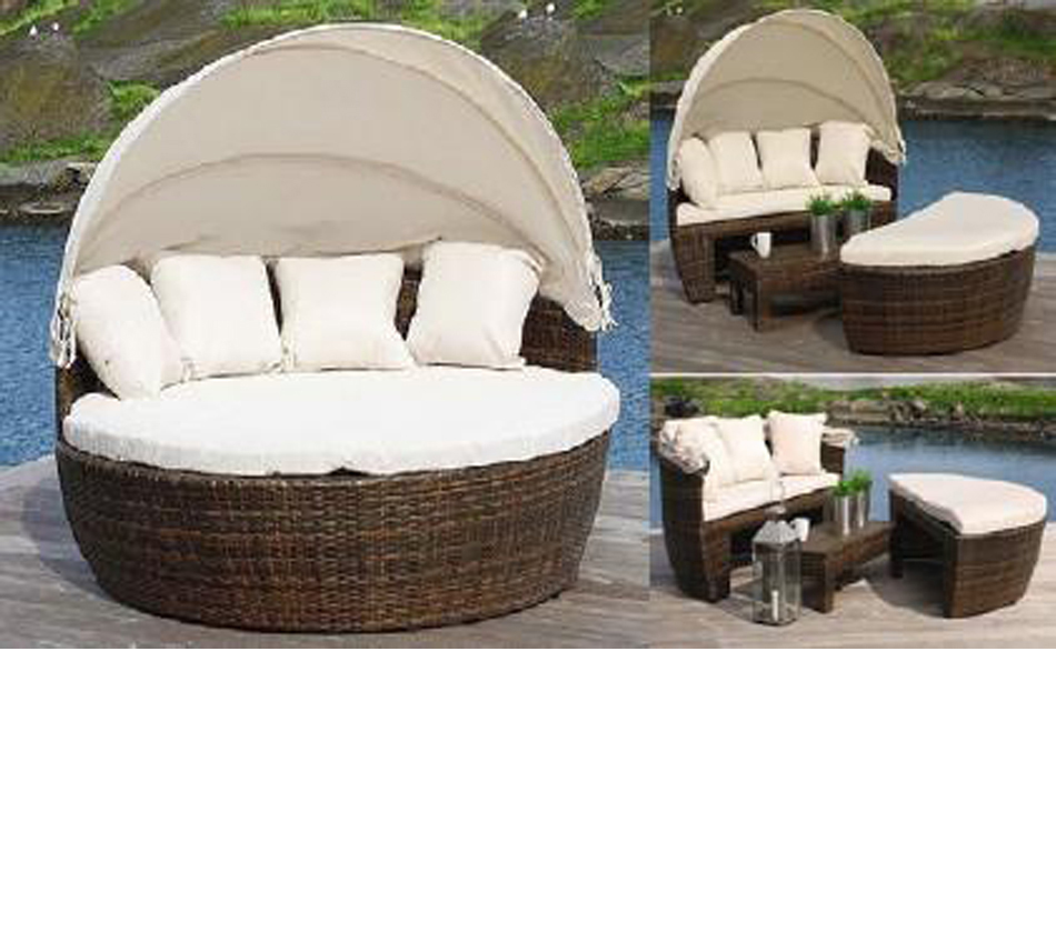 Dreamfurniture Com Sunny Round Patio Day Bed With
