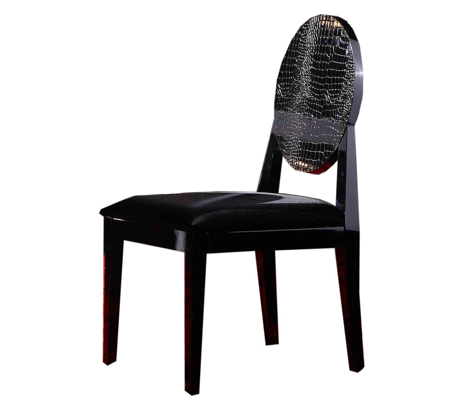 DreamFurniture AA018 Modern Black Lacquer Chair