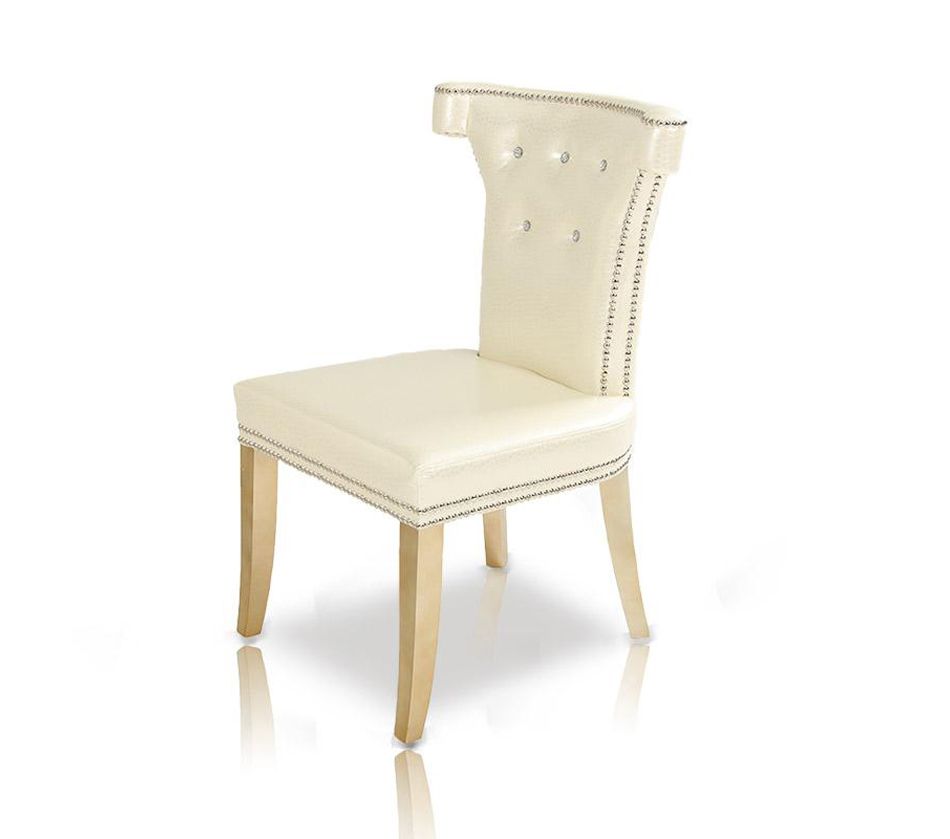 Armani white leather dining chair for White leather dining chairs