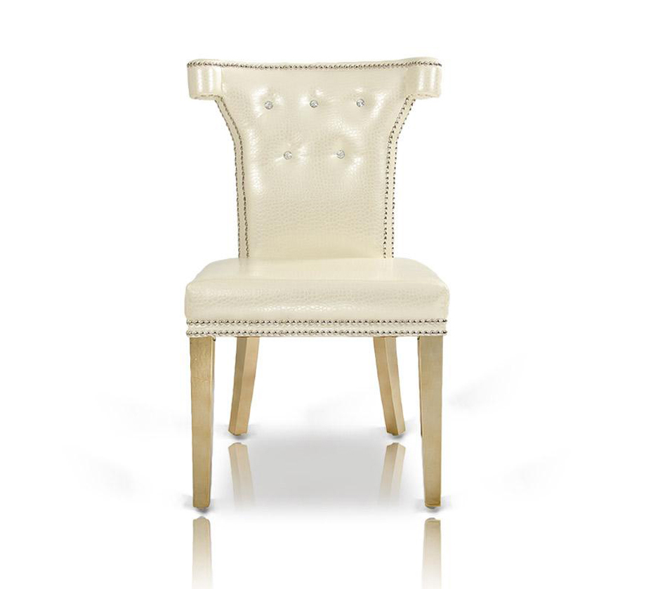 dreamfurniture com armani white leather dining chair