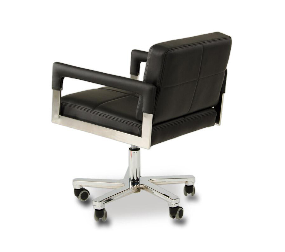 Alaska modern black leather office for Contemporary black leather chairs