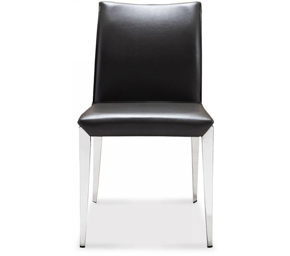 Amazoncom grey leather dining chair