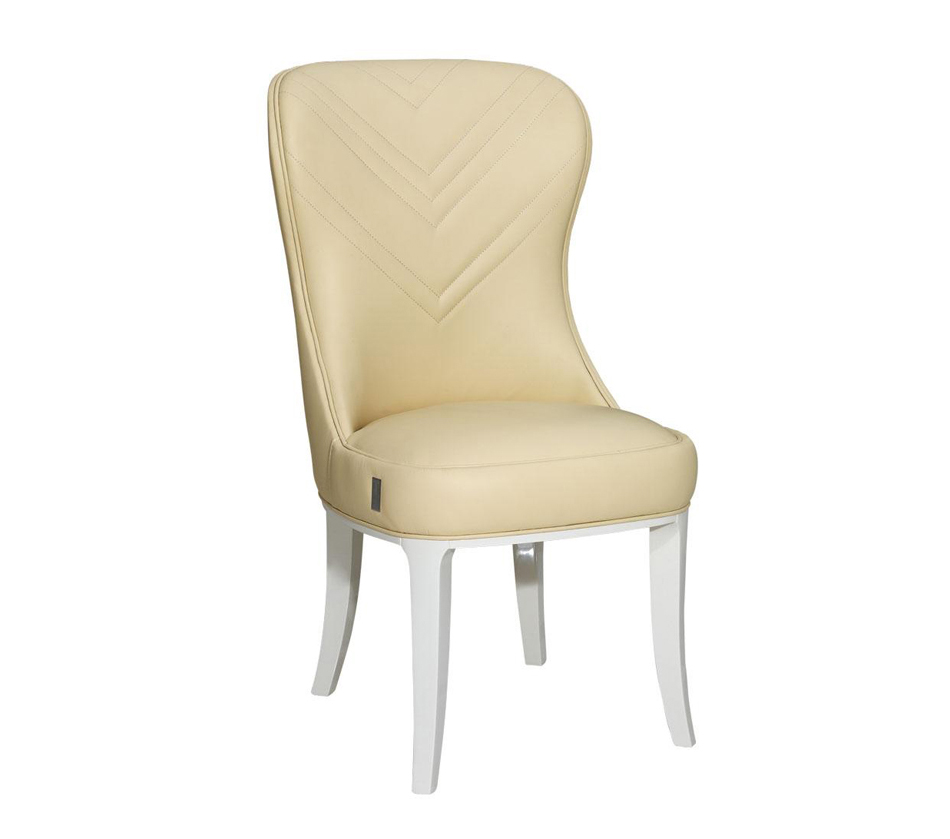 Cream Leather Dining Room Chairs: Deco Style Cream Gloss Leather Dining