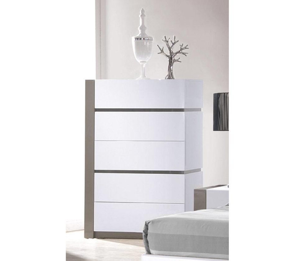 dreamfurniture vero modern white tufted bedroom set