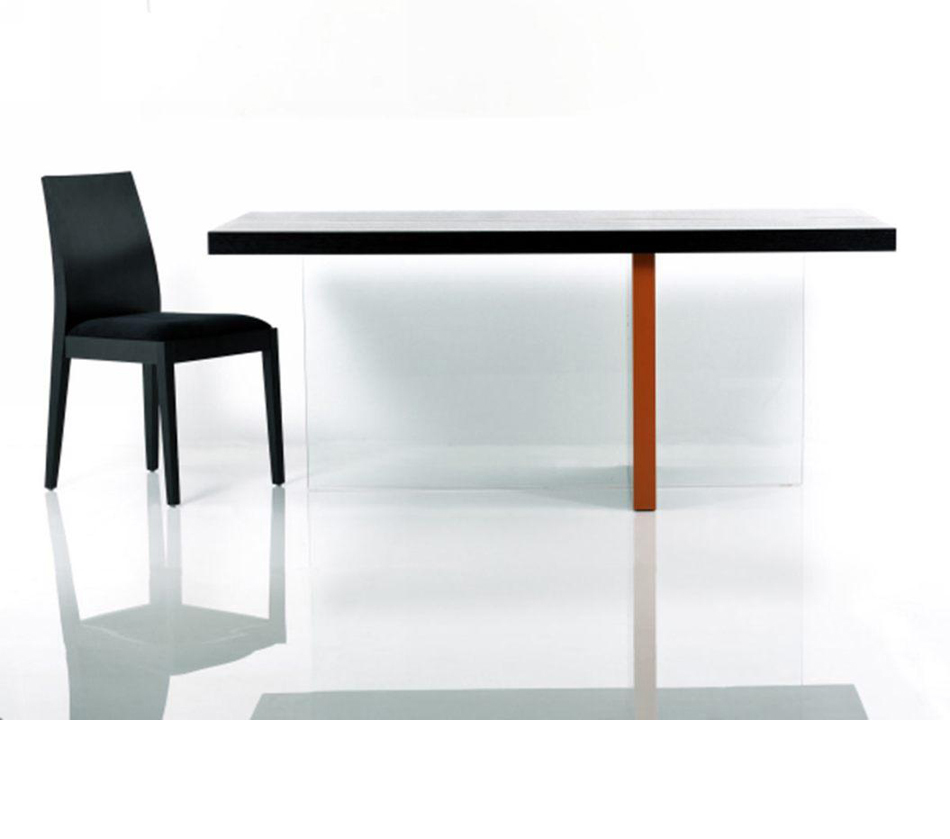 Vision modern black glossy floating for Floating dining table