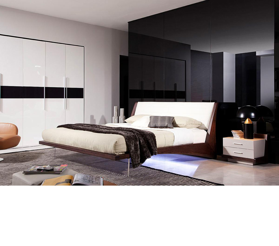 Volterra contemporary floating bed for Modern floating bed