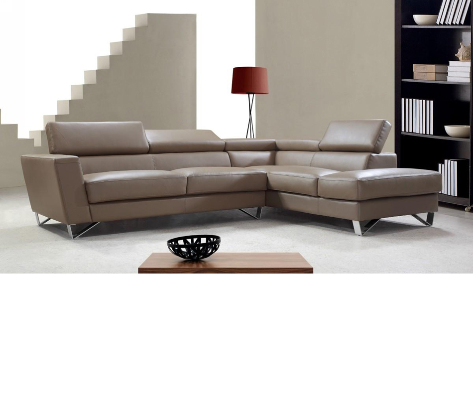 Dreamfurniturecom waltz beige leather sectional sofa for Beige leather sectional sofa sale