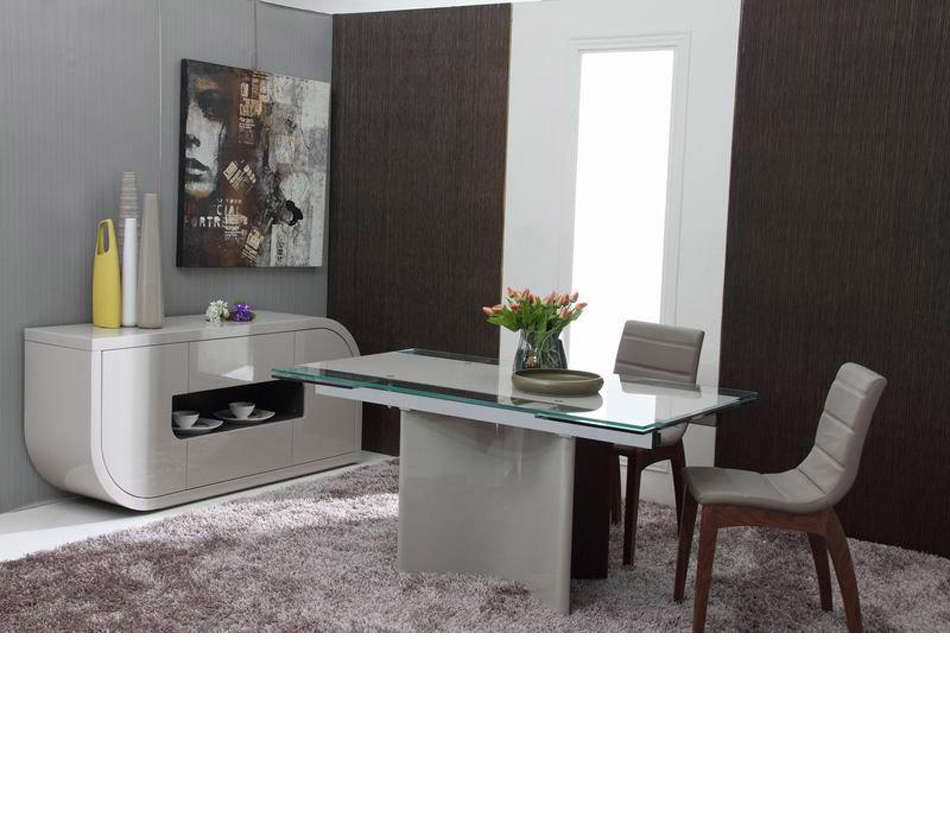 Room Furniture Dining Tables Xeno Modern Extendable Dining Table