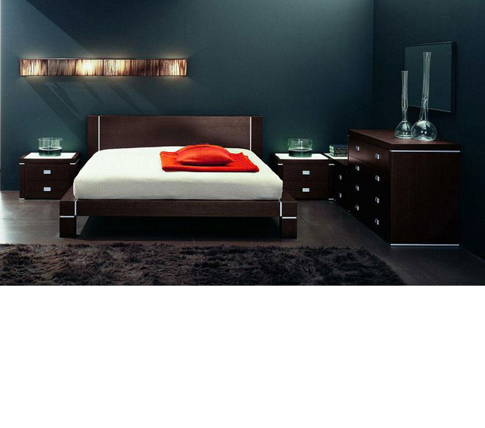 zen 20 bed with nightstands and dresser made in italy. Black Bedroom Furniture Sets. Home Design Ideas