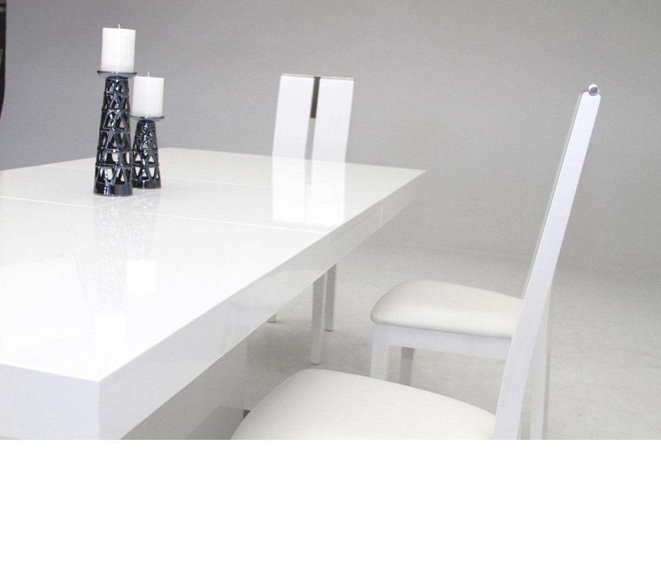 Modern White Dining Table : ... > Dining Tables > Zenith - Modern White Extendable Dining Table