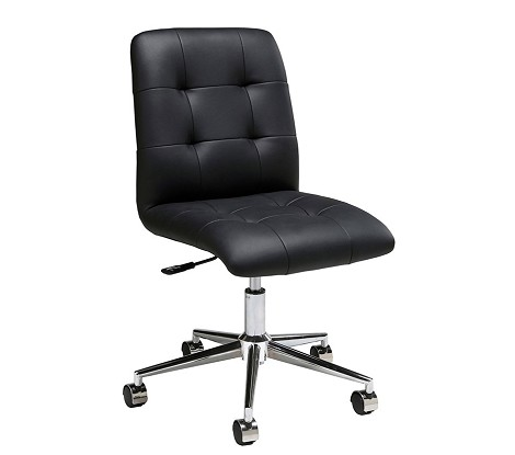 Hoquiam Office Chair in chrome/aluminum upholstered in Pu Black