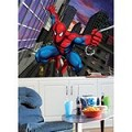 Spiderman Chair Rail Prepasted Mural 6' X 10.5' - Ultra-Strippable