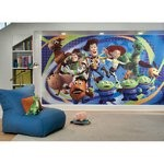 Toy Story 3 Chair Rail Prepasted Mural 6' X 10.5' - Ultra-Strippable