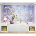 Princess & Frog Chair Rail Prepasted Mural 6' X 10.5' - Ultra-Strippable