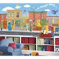 Sesame Street Chair Rail Prepasted Mural 6' X 10.5' - Ultra-Strippable
