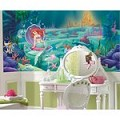 Littlest Mermaid Chair Rail Prepasted Mural 6' X 10.5' - Ultra-Strippable
