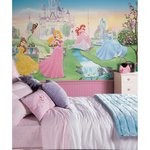 Dancing Princess Chair Rail Prepasted Mural 6' X 10.5' - Ultra-Strippable