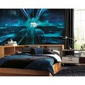 Tron Chair Rail Prepasted Mural 6' X 10.5' - Ultra-Strippable