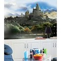 Harry Potter Chair Rail Prepasted Mural 6' X 10.5' - Ultra-Strippable