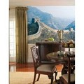 The Great Wall Chair Rail Prepasted Mural 6' X 10.5' - Ultra-Strippable