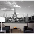 Eiffel Tower Chair Rail Prepasted Mural 6' X 10.5' - Ultra-Strippable