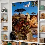 Jungle Chair Rail Prepasted Mural 6' X 10.5' - Ultra-Strippable