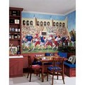 Football Stadium Chair Rail Prepasted Mural 6' X 10.5' - Ultra-Strippable