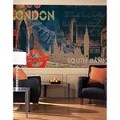 Streets Of London Chair Rail Prepasted Mural 6' X 10.5' - Ultra-Strippable