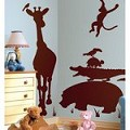 Animal Silhouettes (Brown) Peel & Stick Giant Wall Decals