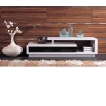 D3033 - Modern White and Black TV Unit